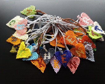 Colourful Beaded Keychains with Letters