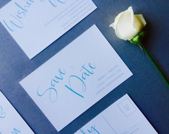 Modern Mint Save the Date - Simple Save the Date - Wedding Save the Date card