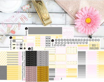 Bumbles and Patterns Planner Stickers