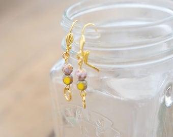 Earrings Yellow Caldera