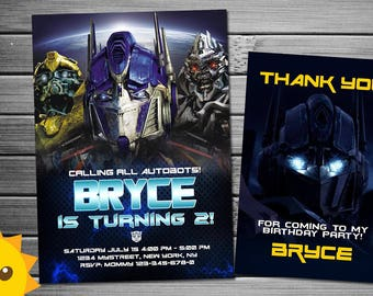 transformers birthday invitation | etsy, Birthday invitations