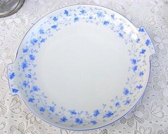 Cake plate platter of Arzber 1382 blue flower Art Deco