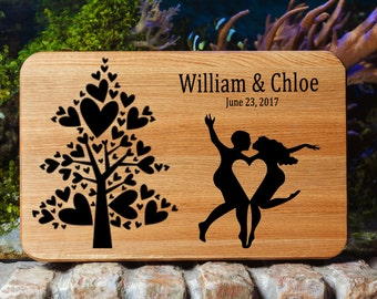 Cutting Board Engraved Cutting Board Wedding Cutting Board Personalized Cutting Board Wedding Gift For Couple Gift Cutting Board Family Love