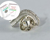 Wire Wrap Ring Tutorial for a Woven Adjustable Bypass Ring