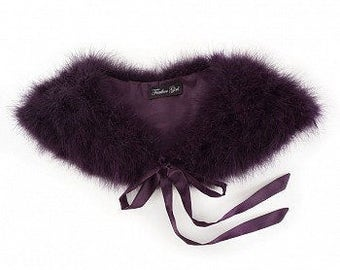 Marabou Feather Shawl with Satin Ties