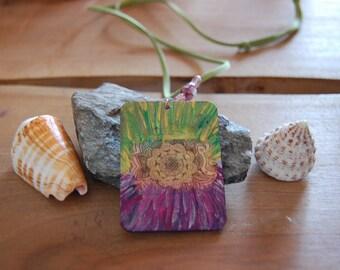 Colored Mandala pendant