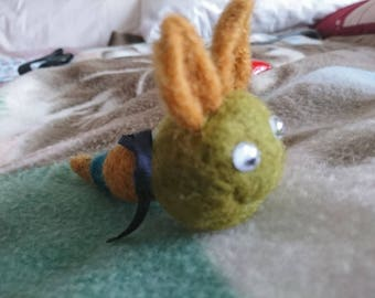 "OOAK Handmade Needle felted Fantasy "" Worm "" Labyrinth inspired"