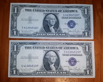 1935D Series 1.00 Silver Certificate Small