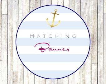 Matching Banner - Printable DIY