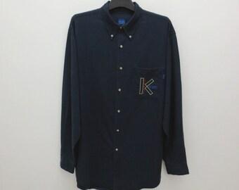Blue casual shirt Kenzo