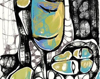 "Author's graphics by Sergey Khvostenko ""Peace"""