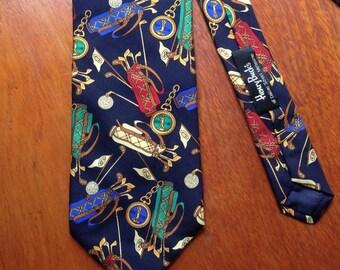 Edsor Kronen traditional tie - silk golf pattern