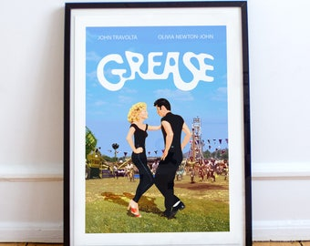 Grease - Classic style film poster