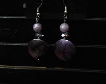 Purple Night Earrings