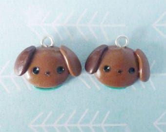 Kawaii Dog Charm - Polymer Clay Pet, Cute Handmade Gift, Planner Charm