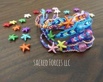 Beach Themed Friendship Bracelet with Adjustable Closure