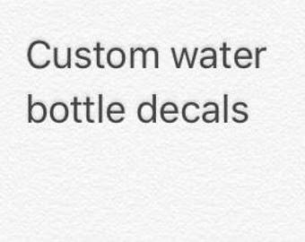 Custom decals for water bottle or any tumbler , water bottle decal , monogram for tumbler  , monogram for water bottle , tumbler decal