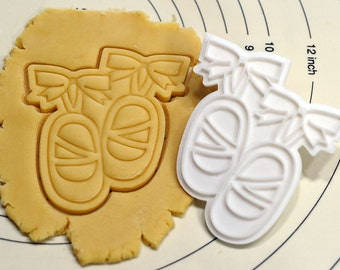 Cute Ballet Shoes Cookie Cutter and Stamp