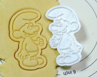 Jokey Smurf Cookie Cutter and Stamp