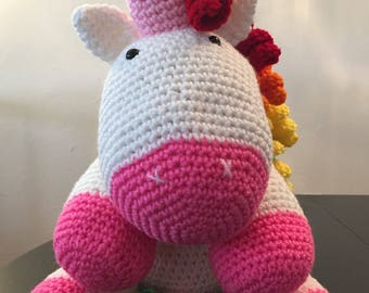Crochet unicorn, Unicorn stuffed, Unicorn baby shower, Unicorn Plush, Rainbow unicorn, Stuffed unicorn, Amigurumi unicorn, Unicorn crochet