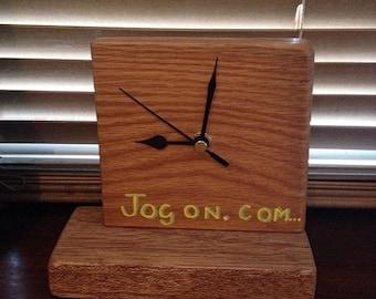 Mohogany Clock/free standing desk clock/wooden clock