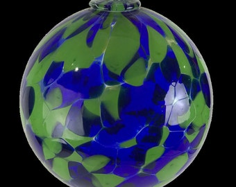 Ocean Earth Hand Blown Glass Ball