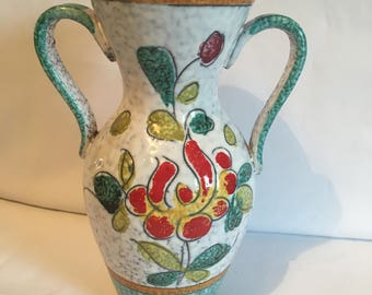 Italian Floral Vase - in the style of Fratelli Fanciullacci -  1960s Vase