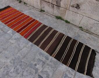 Kilim Runner Rug ''2'' x 9'5'' Feet (63 cm x 292 cm) Vintage Turkish Kilim, Kilim, Kilim Rug