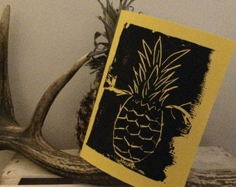 Pineapple with antlers card