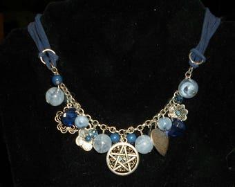 Dangle Pentacle choker/necklace