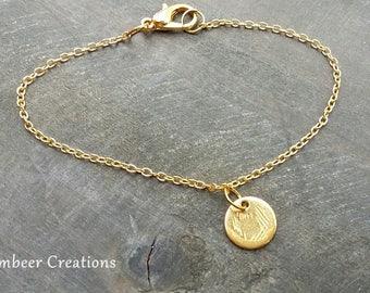 Bracelet antique coin, coin pendant, Friendship Bracelet, mother's day, mark bracelet, gold bracelet, bracelet minimalist, gift