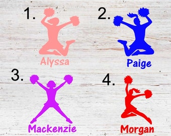 Cheerleader Decal / Cheer Decal  / laptop decal / Tumbler Decal