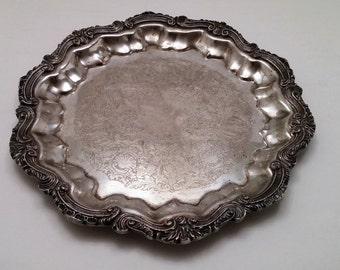 RESERVED for CHAIAH-English Silver Mfg Co. 14: Serving Tray Silver Plate