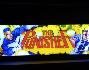 Punisher Arcade Style Marquee Light Box
