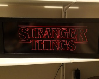 Stranger Things Arcade Style Marquee Light Box