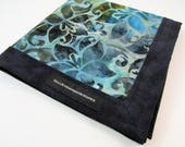 Blue Batik Handmade Hank EDC Hank Everyday Carry Pocket Dump Hank Mens Handkerchief Gift for Him Father's Day Gift