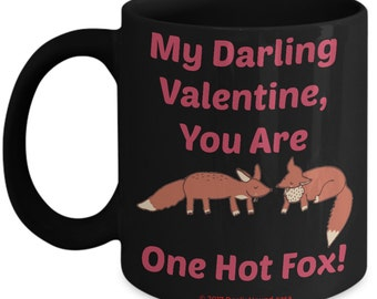 Valentine Mug For Kids - Hot Fox