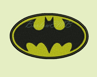 8 Size Batman Logo Embroidery Designs Instant Download 8 Formats machine embroidery pattern