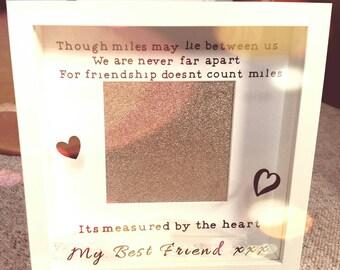 Best friend personalised frame