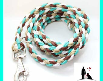 Dog leash, para cord rope, adjustable leash 1, 5 m or 2 m selectable