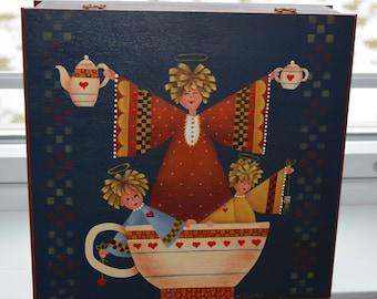 Decorative Painted Box,Angel Tea Time