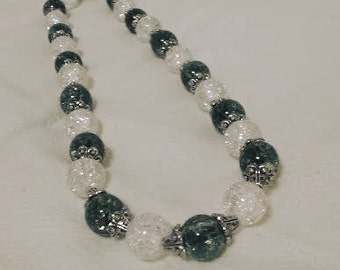 Gray and Crystal Necklace
