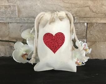 Heart Party Favor Bag, Valentine's Party Favor