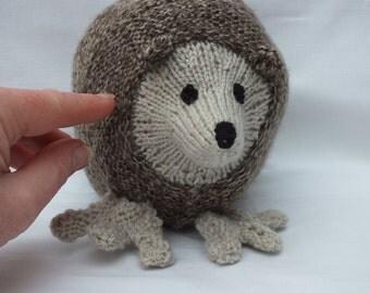 Hand Knitted Hedgehog, Stuffed Soft Animal