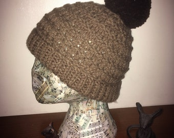 Ladies Pom-Pom Hat