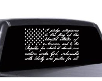 Pledge Allegiance Flag Decal