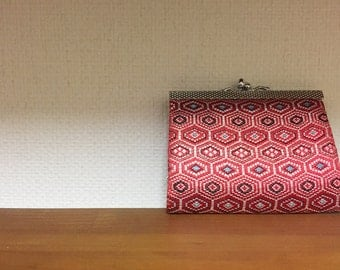 Japanese vintage 1970's obi fabric wallet new old stock