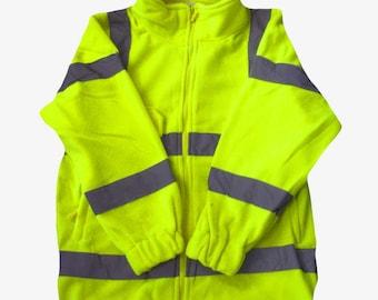 Yellow Hi Vis Viz Fleece High Visibility Safety Reflective Warm Work Wear