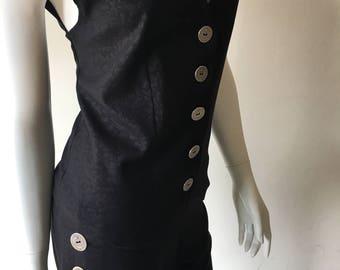 Vest and pants, black