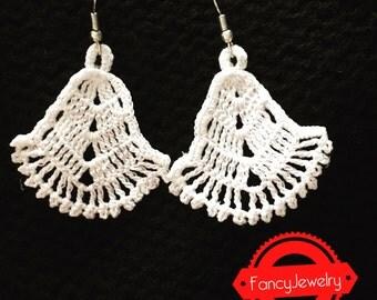 Crochet crochet earrings own design by me personally 100% cotton